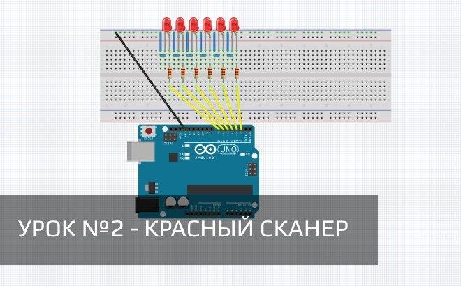 Arduino для начинающих: Урок 2 — красный псевдо-сканер